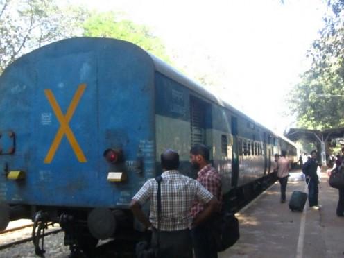 Back side Nilambur Train and station