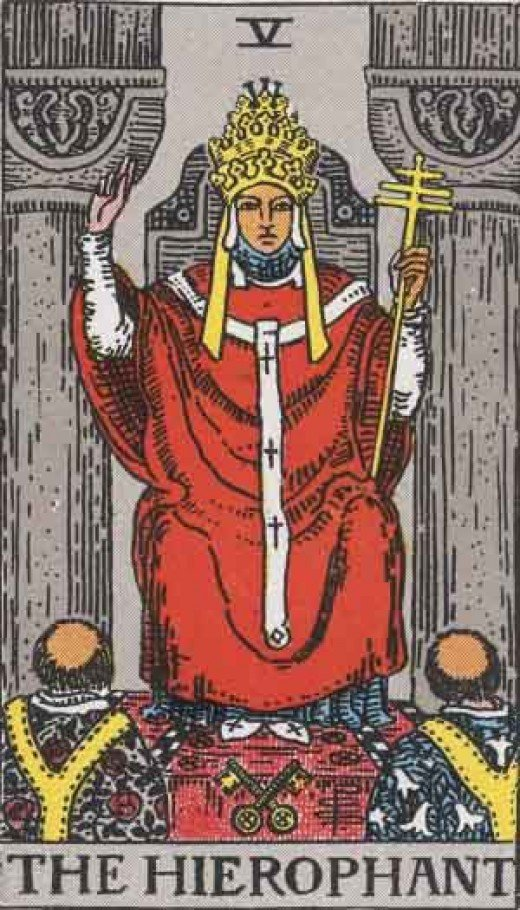 The Hierophant (copyright-free)