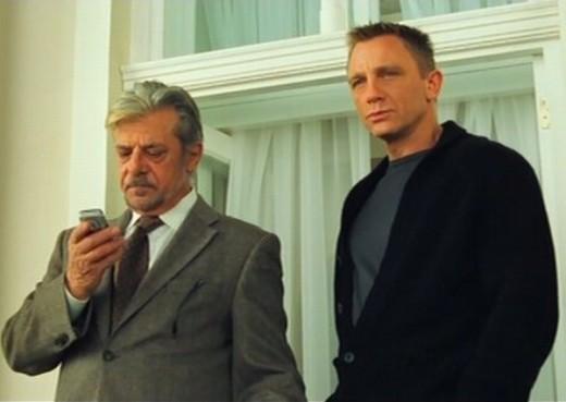 Giancarlo Giannini with Daniel Craig