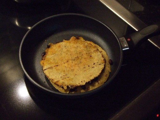 Black Bean Quesadilla ,yummy and golden brown. Heat for another few minutes.