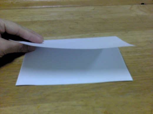 white card: fold into half
