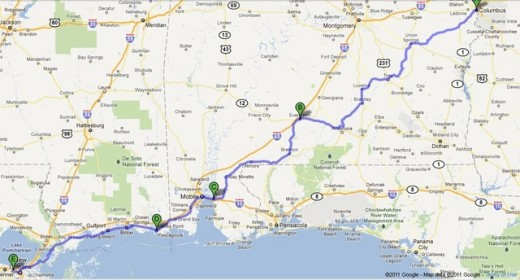 432 miles, 8 hr. 32min plus gas, diaper, and UDF breaks.