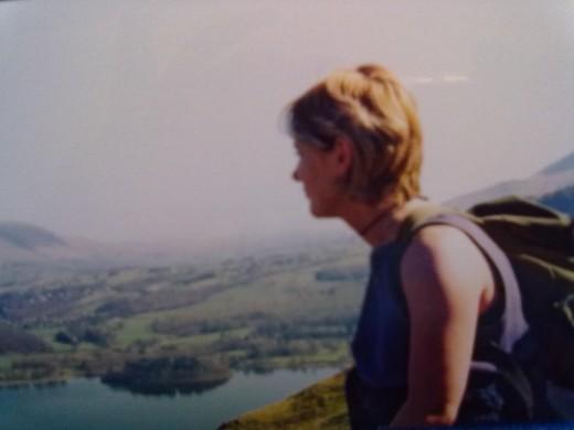 looking down on Derwenwater