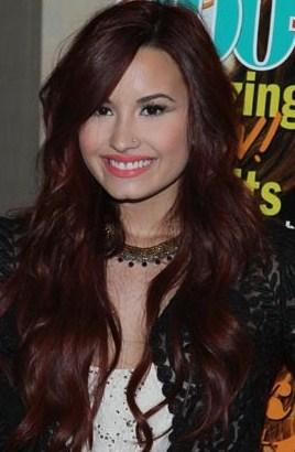 Demi Lovato -- mahogany hair