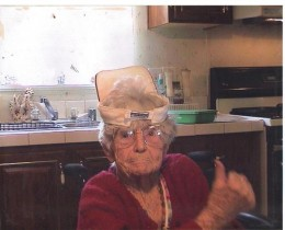 This is my grandmother, She was 99 years old when this picture was taken. She inspired me.