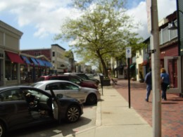 Shopping area in downtown Newport