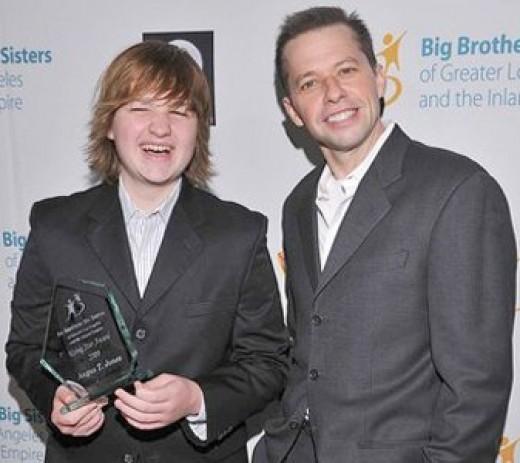 Jon Cryer and Angus Jones at the Big Brothers Big Sisters Rising Star Gala