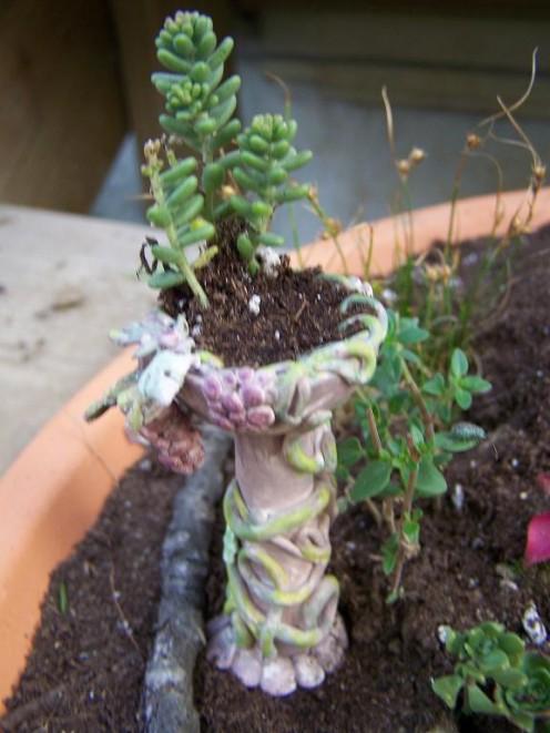 Handcrafted Fairy Garden Flowerpot