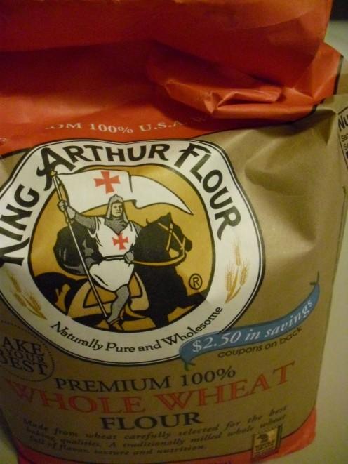 Whole wheat flour is a healthier baking alternative.