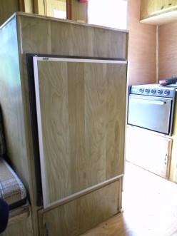 A standard absorption RV fridge.