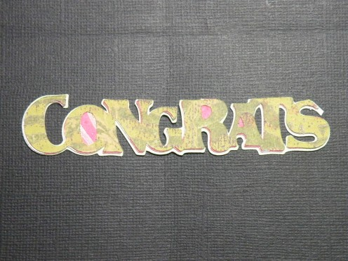Congrats adhered