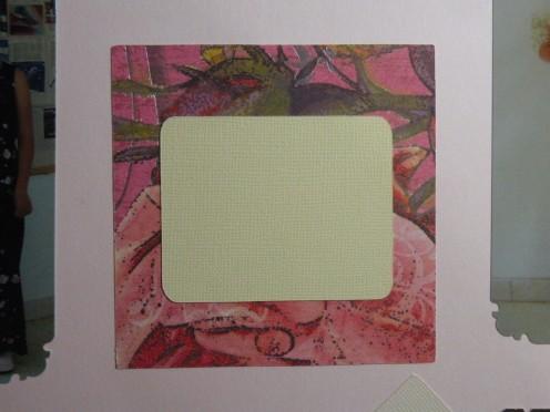 mat adhered to square mat