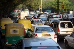 New delhi traffic