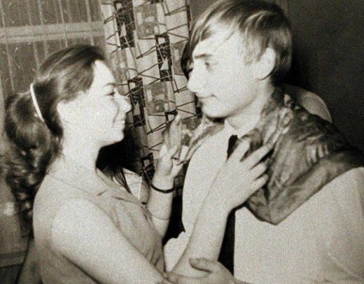 President Putin in 1966 with his Beatle cut
