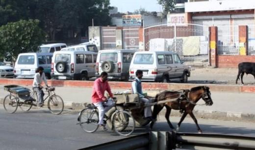 En route to Agra