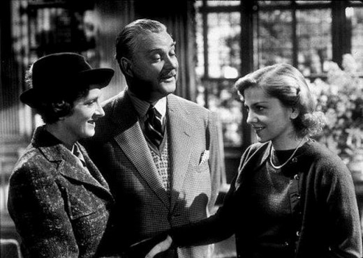 Gladys Cooper, Nigel Bruce and Joan Fontaine