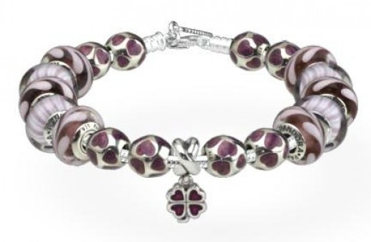 Purple Pandora Charms for Bracelet