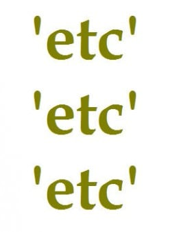 English Language Usage: Et Cetera, Etcetera, Etc.