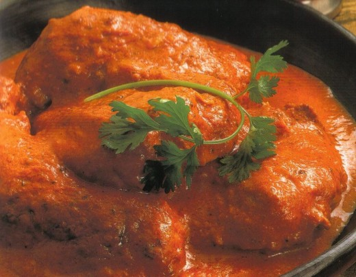 Indian butter chicken (chicken murg makhani)