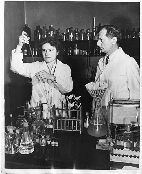 Gerty Cori and Carl Cori jointly won the Nobel Prize in 1947 for their discovery of the Cori cycle at RPMI
