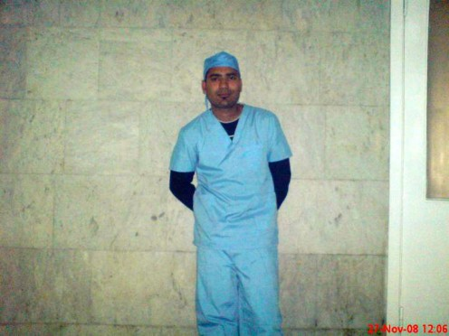 An Indian student (current dr. Kumar at Sangam Health Care Center, India) at Yerevan State Medical University