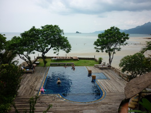 The pool with foot incident. Koh Chang.