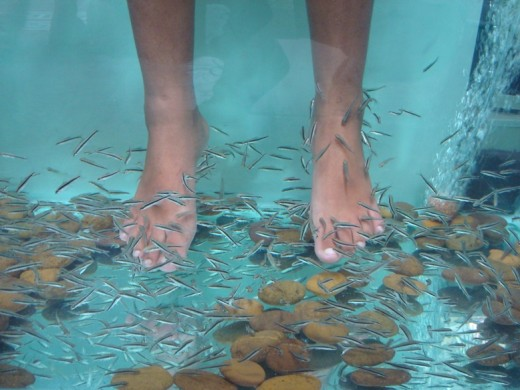 A traditional Thai foot spa.
