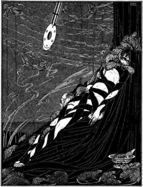 """The Pit and the Pendulum"" illustration by Harry Clarke (1889-1931), first printed in 1919."