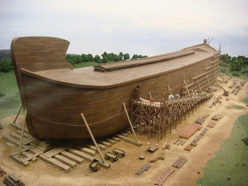 There is no technology that can achieve the same feat that Noah achieved.  It's like making a football stadium buoyant.