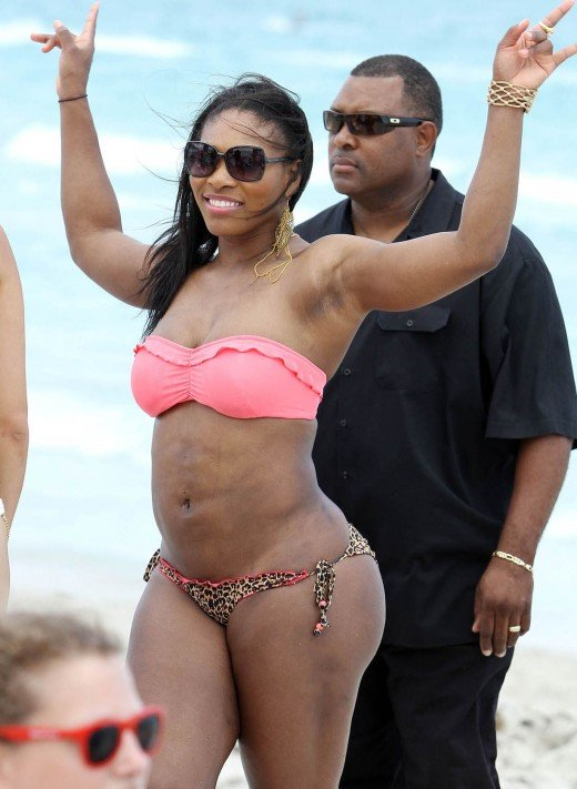 Serena Williams Hot on court and off court... in bikini - an April 2011 Photo