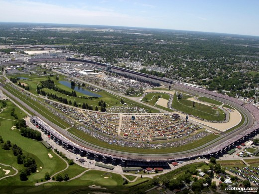 Aerial view of the Indianapolis Motor Speedway