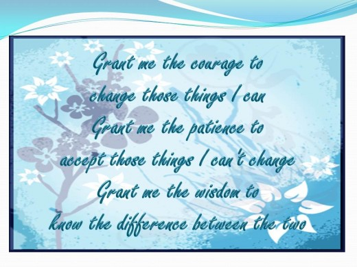 Quote from the Serenity Prayer