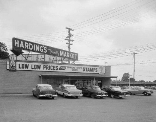 Typical, well-managed grocery market of the mid-1950s.