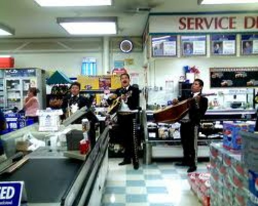 A pleasant sight.  A check-out aisle free of long lines of angry customers.