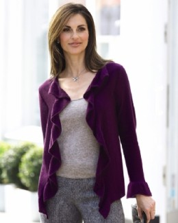 Frill Front Cashmere Cardigan Price: £129.00  Offer price: £96.75