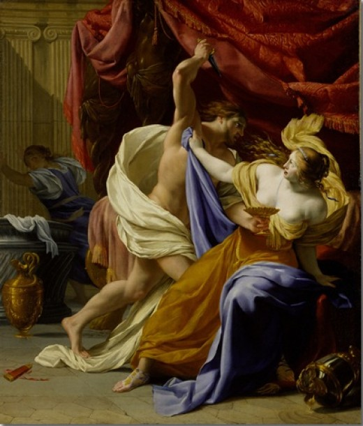 """The Rape of Tamar"" by Eustache Le Sueur (1616-1655) on display at the Metropolitan Museum of Art, NY"
