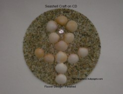 How to Make a Seashell Craft with CDs 01