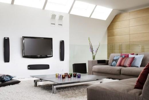 Modern living room furniture display
