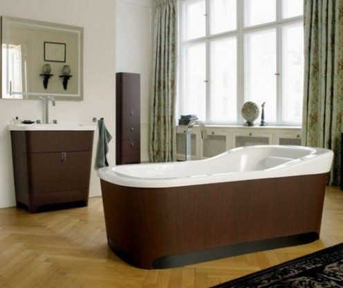 Ultra-modern bathroom furniture.