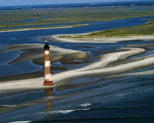 Morris Island Light House Low Tide