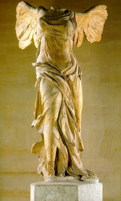 The Greek goddess of victory, Nike, whom the athletic shoe company is named after.