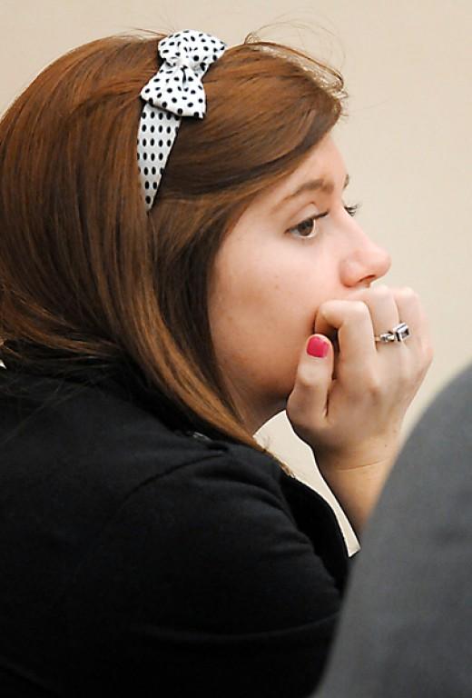 In court, Justine Winter