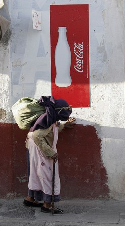 Coca Cola is found all over the world
