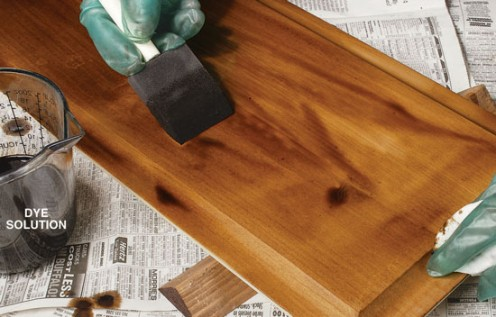 Staining your pine furniture will take it to the next level