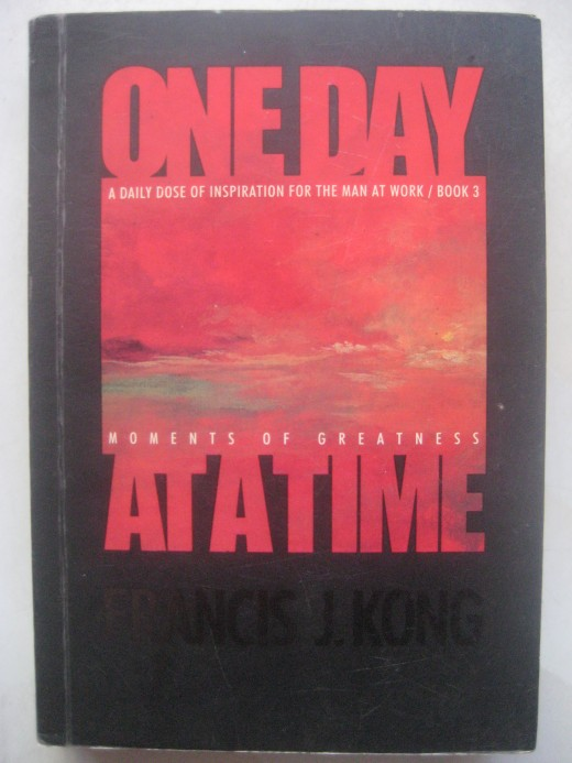Book cover of One Day at a Time by Francis Kong (Photo by Travel Man)