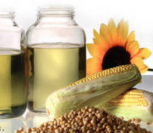 Omega 6 fatty acids are found in oils, particularly soybean, corn, sunflower, palm, and rapeseed.