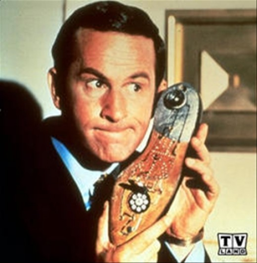 Maxwell Smart answering his shoe!