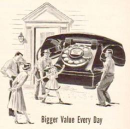 1949 telephone advertisement.