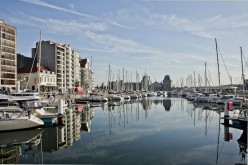 Ostend Railroad Station and yacht harbour