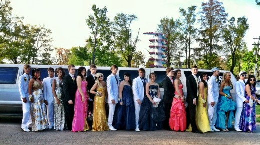 Outside the $850 limo